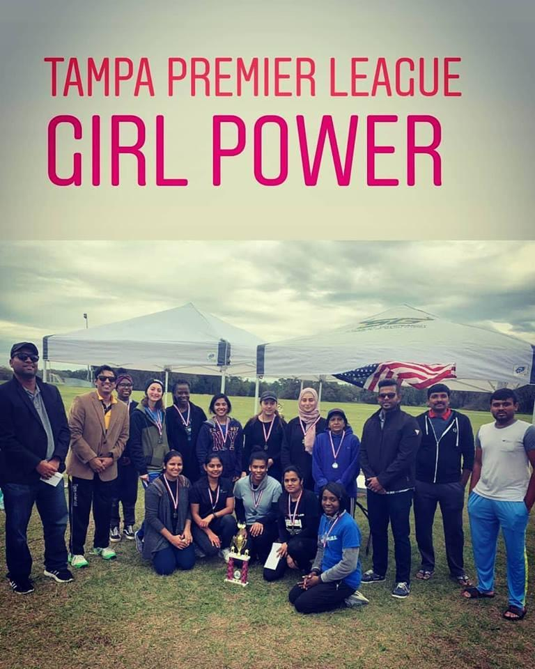 Team USF Sunrisers become First Woman Cricket Champion in History of Tampa Cricket